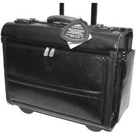 black litigation rolling briefcase