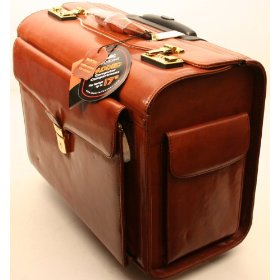 brown litigation rolling briefcase